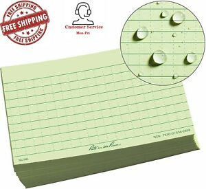 Rite In The Rain All Weather Index Cards 3 X 5 Universal Pattern Green No 991