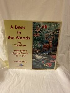 Sunsout A Deer In The Woods By Yuan Lee 1000 Pc Jigsaw Puzzle NIB Item No 16017 $19.99