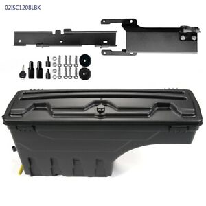 Abs Rear Left Side Truck Bed Storage Box Toolbox Fit 2015 2019 Ford F150 Black