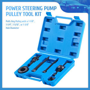 Omt 7pc Power Steering Pump Pulley Puller Installer Tool Set For Ford Gm More