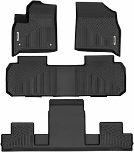 Oedro Floor Mats Unique Tpe All Weather Guard For 2018 2021 Chevrolet Traverse