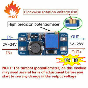 Mt3608 Dc dc Step up Converter Booster Power Supply Boost Board 1pc Module Best