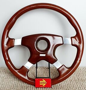 Momo Astra Vintage Natural Wooden Steering Wheel Size 370 Mm Rare Mercedes Bmw