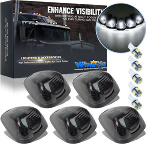 Smoke Cab Roof Running Marker Light White Led For Ford F 250 F 350 Super Duty