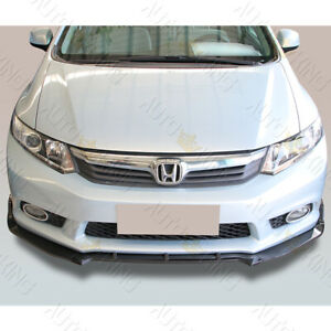 Fit 2012 Honda Civic 4dr Carbon Look 3pcs Cs style Front Bumper Body Kit Lip