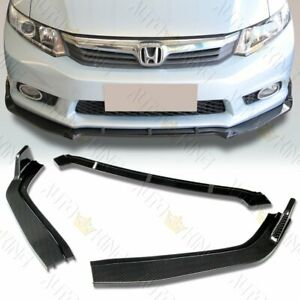 Fit 12 Honda Civic 4dr 9th Gen Cs style Carbon Look Front Bumper Spoiler Lip