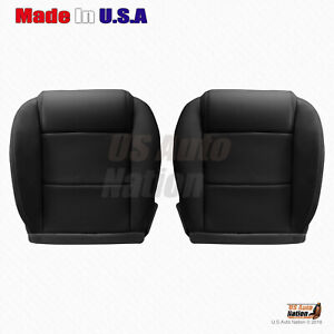 2005 To 2009 Ford Mustang V6 Driver Passenger Bottom Leather Seat Cover Black