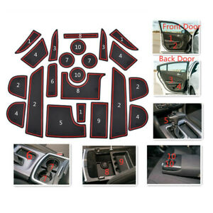Cup Holder Liner Insert Accessories Red Trim For Dodge Charger 2011 2020