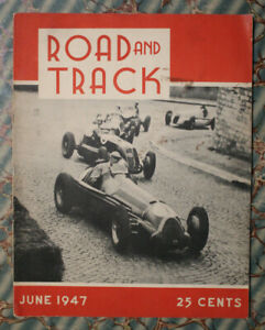 Road Track Magazine 1 1947 Auto Racing Vtg Indy 500 46 Ford Offy Sprint Cars