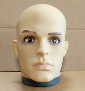 Less Than Perfect g2 Fleshtone Plastic Male Realistic Mannequin Head Attachment