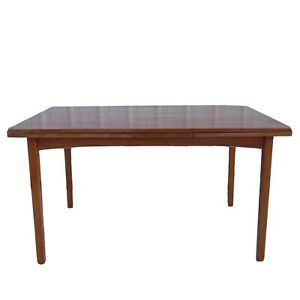 Modern Teak Draw Leaf Dining Table