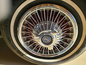 Vintage Hubcaps 1965 1966 1967 Ford Mustang Fairlane Galaxie Wheel Covers Four
