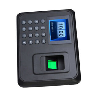 1 Pc Fingerprint Time Clock Lcd Display Payroll Recorder For Factory Office