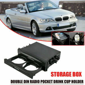 Double Double Dins Dash Radio Installation Pocket Cup Holder Storage Box For Car