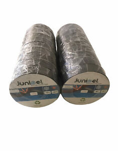 20 Rolls 66 Ft Big All Purpose 0 7 Inch Pvc Black Insulated Electrical Tape Lot