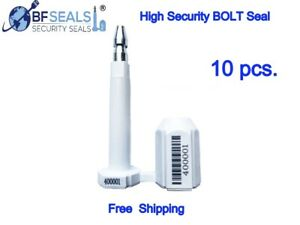 High Security Bolt Seal For Cargo Containers 10 Pcs white Color Numbered