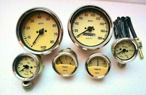 Smiths Replica Kit Temp Oil Fuel Amp Gauge Mechanical 100 Mm Tacho Speedo Kmph