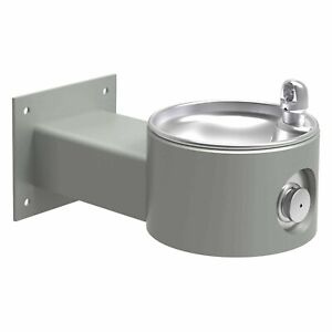Elkay Lk4405gry Gray Non filtered Outdoor Wall Mount Drinking Fountain
