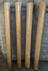 4 Salvaged Wood Vtg Mid Century Modern Table Legs W Hardware 28 25 Tall Mcm