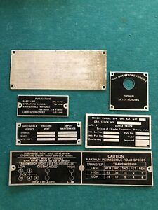 Original And New Dodge M37 Tag Data Plate Set G741 Fording Military Willys Army