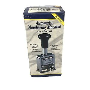 Rogers Automatic Numbering Stamp Machine 7 Different Actions stamper Only f