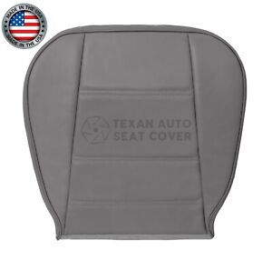 2000 2002 Ford Mustang V6 Convertible Passenger Bottom Leather Seat Cover Gray