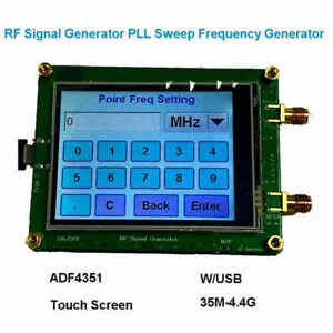 Adf4351 Rf Signal Generator Pll Sweep Frequency Generator Usb Cable Touch Cs