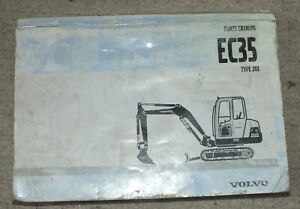 Original Volvo Ec35 Type 283 Construction Equipment Parts Catalog Manual Book