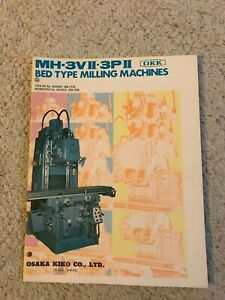 Okk Mh 3vii Mh 3pii Bed Type Milling Machine Sales Catalog Made In Japan