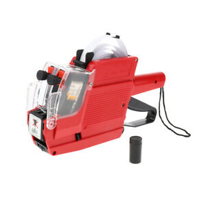 Mx 6600 10 Digits 2 Lines Price Tag Gun Price Labeller Multi currency Red