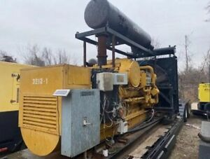 Cat G3512 550 Kw Continuous Duty Natural Gas Generator Set W 3480 Hours