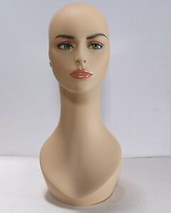 Less Than Perfect 318 a Female Mannequin Head Display Form With Pierced Ears