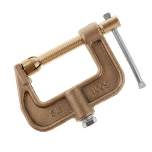 C clamp Ground Welding 500a Earth Clamp 0 43kg Full Brass For Woodworking Tools