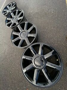 20 Gmc Yukon At4 6x5 5 Chevy Sierra Denali Black Oem Factory Stock Wheels Rims
