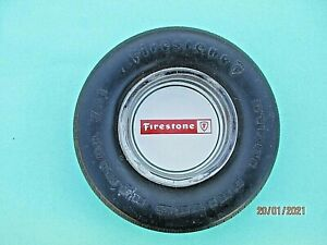 Vintage Accessory collectible Firestone Tire Ash Tray Steel Belted Radial 721