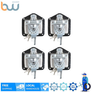 4x T Lock For Tool Box Rv Door Latch W Keys Stainless Steel Polished