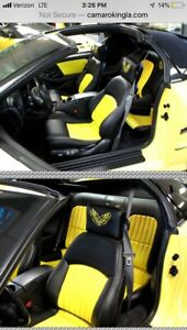 2002 Ceta Collector Edition Trans Am Ebony Black W Yellow Seat Covers
