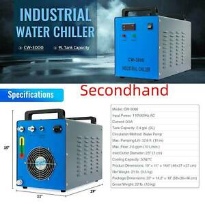 Secondhand Cw 3000 Industrial Water Chiller For 50 100w Laser Engravers cutters