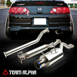 Fits 2002 2006 Acura Rsx Dc5 Type s 4 Burnt Tip Muffler catback Exhaust System