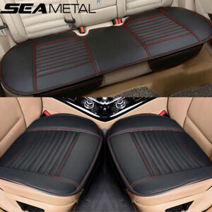 Universal Front Rear Back Car Seat Cover Protector Pu Leather Pad Chair Cushion