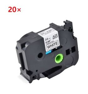 Compatible With Brother 20pk Black On White Label Tape Tz251 Tze251 Pt1400 1