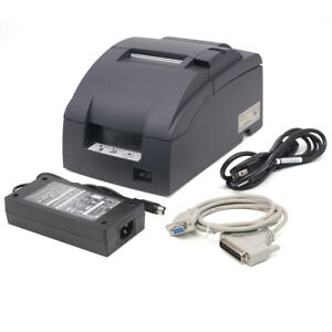 Epson Tm u220b Receipt Printer Com Interface Come With Ribbons One Year Warranty
