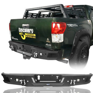 Powder Coated Steel Full Width Rear Bumper W Led Light For Toyota Tundra 07 13