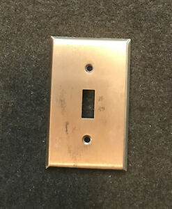 Vintage Solid Brass Light Switch Plate Cover