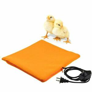 Chicken Heated Pad W Cozy Fleece Cover For Chick Brooder Coop Heater Cage Heat