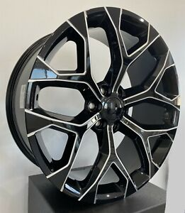 Set Of 4 Wheels 24 Inch Black Milled Rims Fits Cadillac Escalade 2000