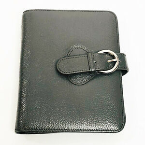 Franklin Compact Gray Leather Snap Planner Binder Franklin Covey 7 5x6x1 Inch