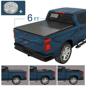 6 Ft Tonneau Bed Cover Soft Tri Fold Fits For 2019 2021 Ford Ranger Trucks