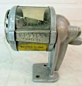 Vintage Boston Pencil Sharpener Wall Desk Mount Sharpener See Through Clear