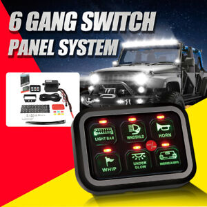 6 Gang Switch Panel On off Car Panel Circuit Control Vs 8 Gang Green Led Display
